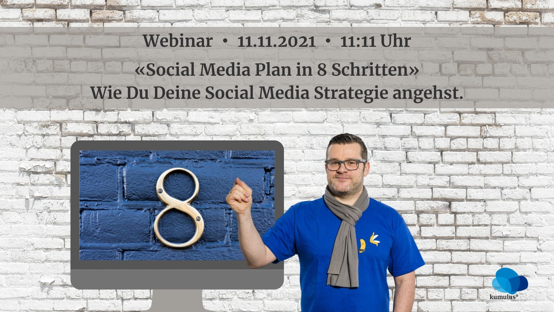 "Webinar ""Social Media Plan in 8 Schritten"" mit Christoph Ziegler, kumulus Beratung"